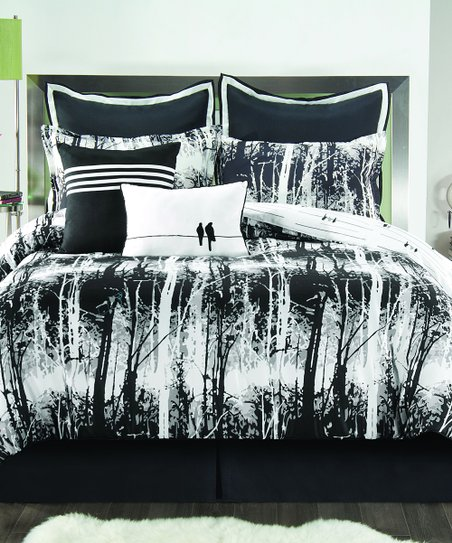 Black & White Woodland Comforter Set