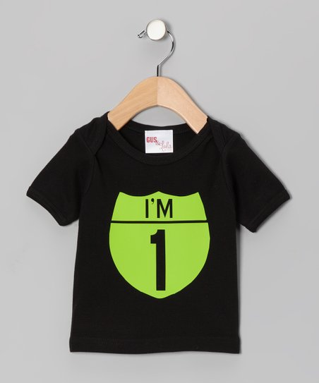 Black &amp; Lime Interstate Personalized Tee - Infant, Toddler &amp; Kids