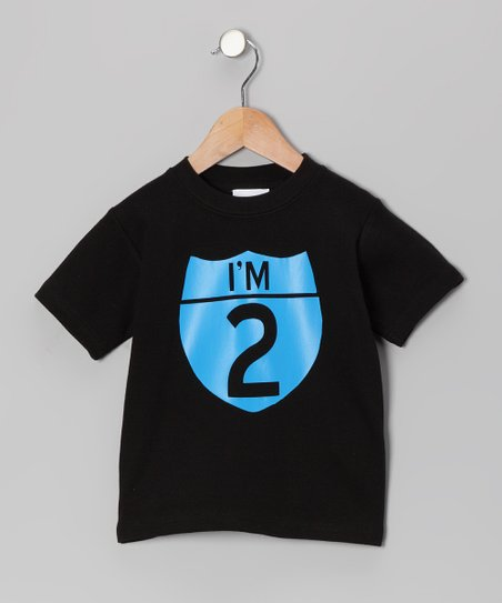 Black & Blue Interstate Personalized Tee - Infant, Toddler & Kids