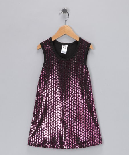 Angela Frost Metallic Pink Sequin Dress - Toddler & Girls