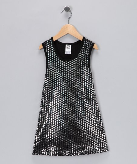 Angela Frost Silver Sequin Dress - Toddler & Girls