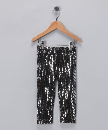 Angela Frost Silver Sequin Leggings - Toddler & Girls