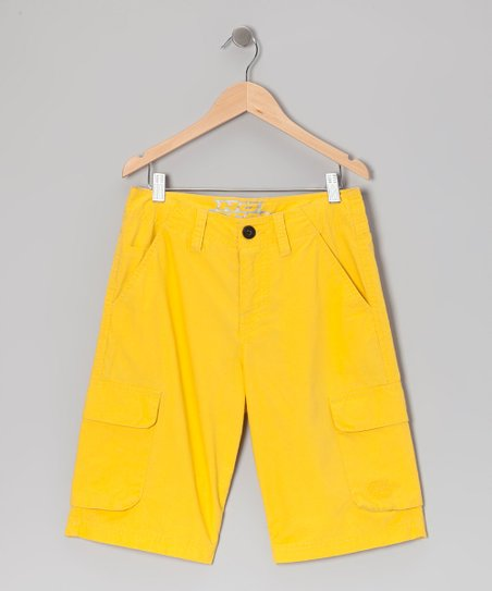 Yellow Ripstop Cargo Shorts - Boys
