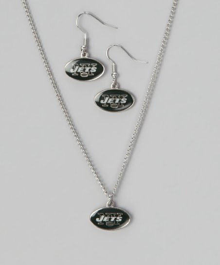 New York Jets Necklace & Earrings
