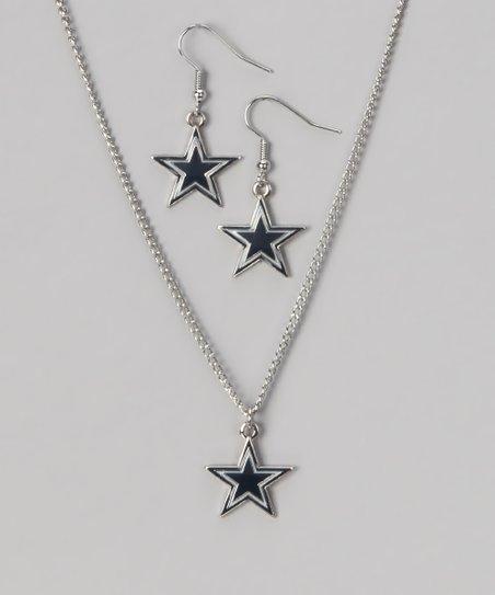 Dallas Cowboys Necklace & Earrings