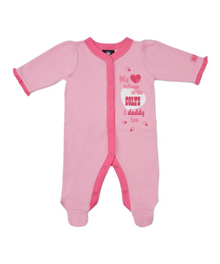 Pink Indianapolis Colts Footie - Infant