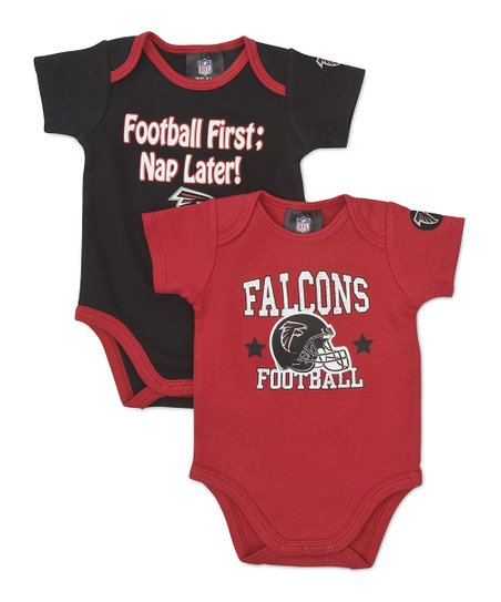 Red & Black Atlanta Falcons Bodysuit Set - Infant