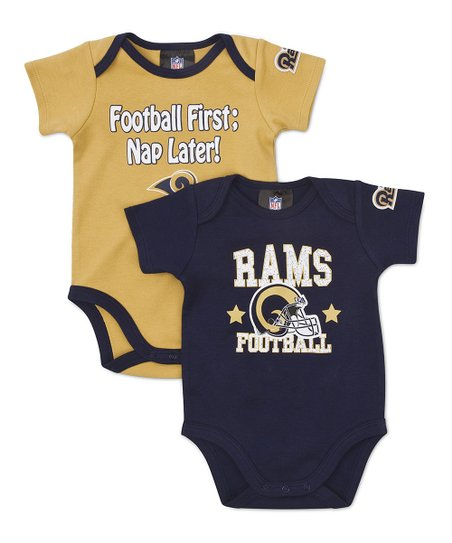 Blue & Gold St. Louis Rams Bodysuit Set - Infant