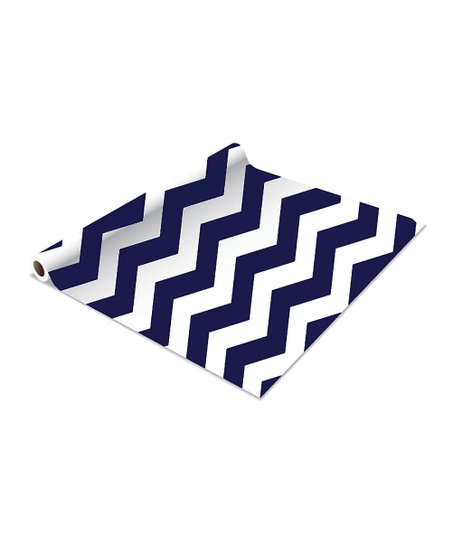 Navy Zaigzag Shelf Liner