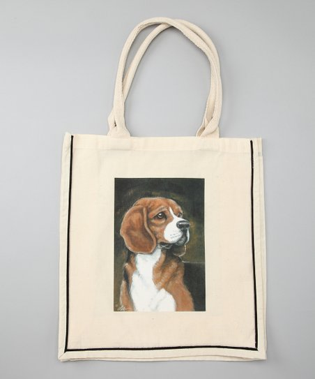 Natural Beagle Shopper Tote
