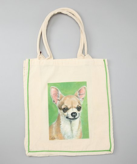 Natural Chihuahua Shopper Tote