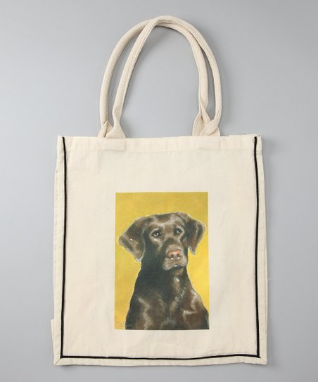 Natural Chocolate Lab Shopper Tote