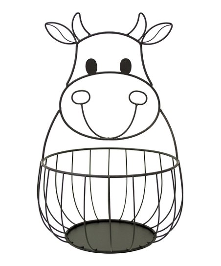 Cow Metal Basket