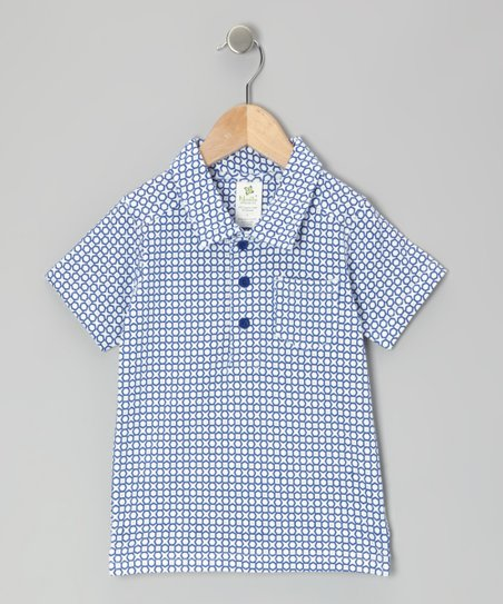 Midnight Geometric Organic Polo - Infant