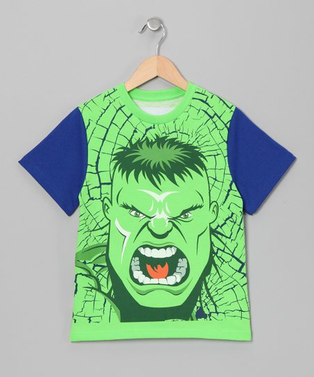 Green & Blue Hulk Tee - Toddler & Boys