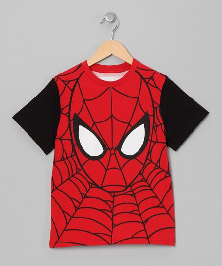 Red Spider-Man Face Tee - Toddler & Boys