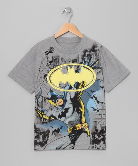 Gray Batman Appliqué Tee - Boys