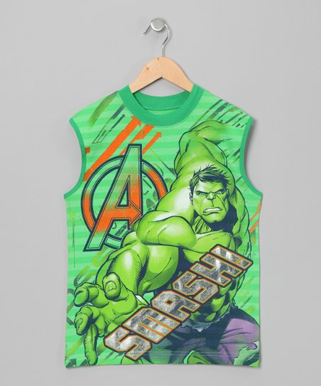 Green Hulk Tank - Boys
