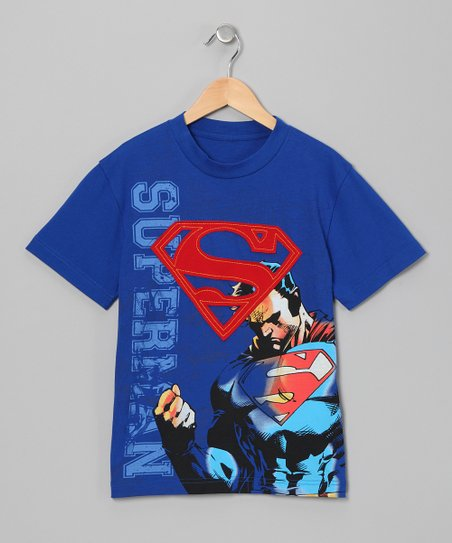 Blue Superman Appliqué Tee - Boys