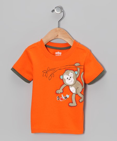 Orange Monkey Tee - Infant