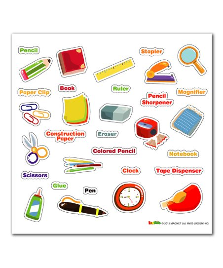 Stationary Vocabulary Magnetic Wall Sticker Set