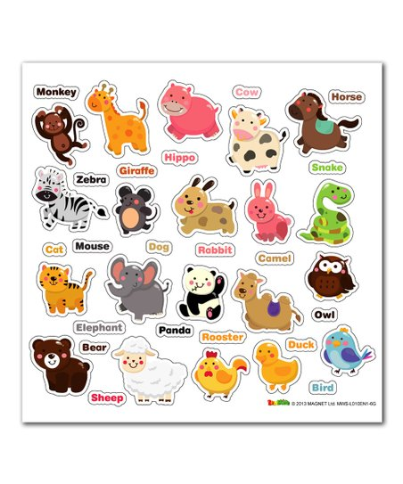 Animals Vocabulary Magnetic Wall Sticker Set