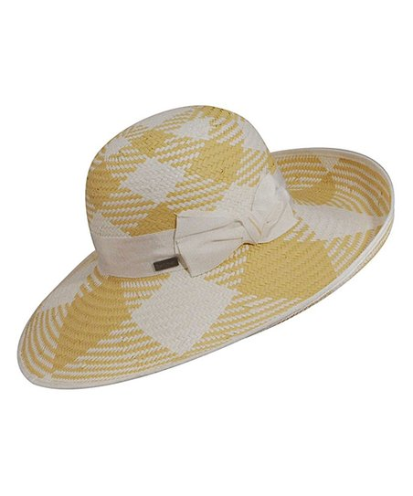 White & Natural Bow Orchid Sunhat