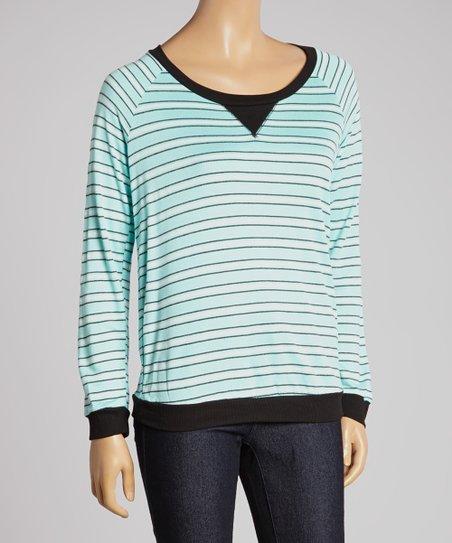Seafoam Stripe Sweatshirt