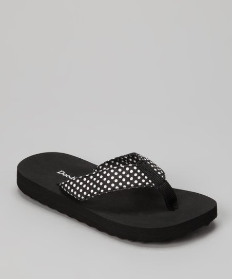 Black Polka Dot Flip-Flop