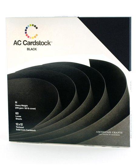 Black Cardstock Set