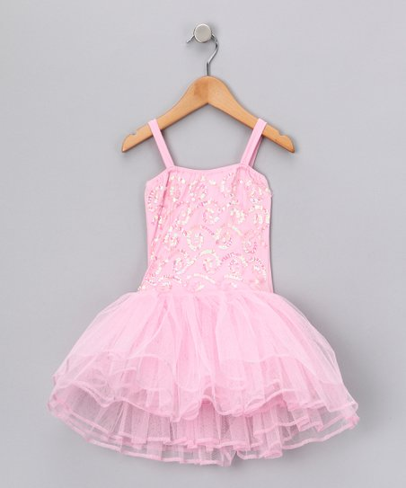 Light Pink Stella Luna Skirted Leotard - Toddler & Girls