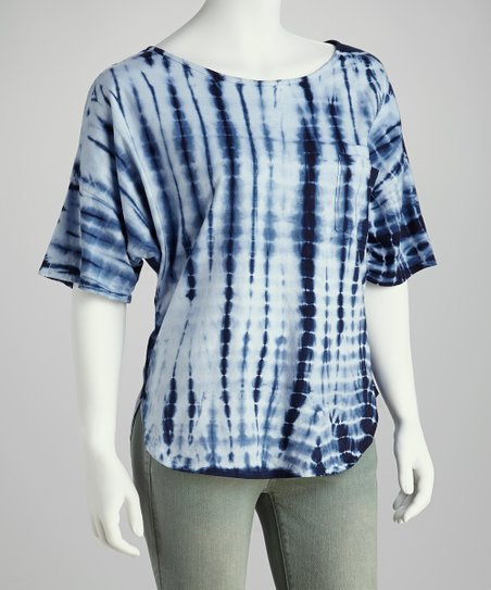 Navy Tie-Dye Top - Women