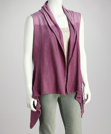 Magenta French Terry Embroidered Vest