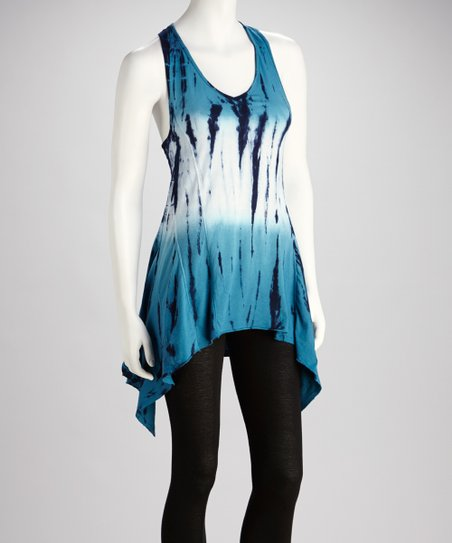Aquamarine Tie-Dye Tunic - Women