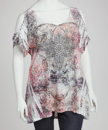 Pink & Black Sublimation Cutout Top - Plus