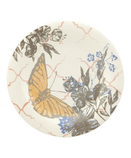 Collage Butterfly Dessert Plate - Set of Four