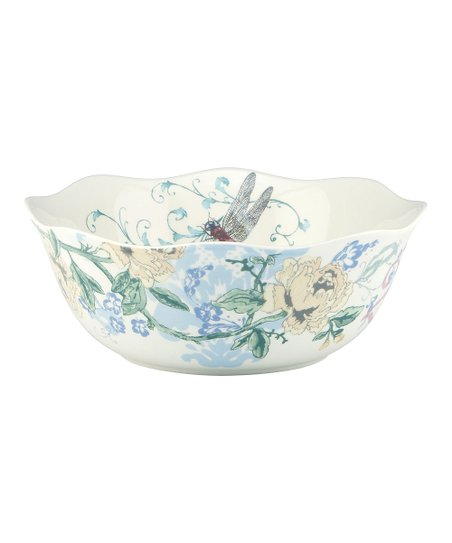 Collage Dragonfly Serving Bowl