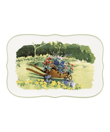 Floral Meadow Rectangular Tray