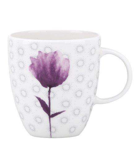 Watercolor Amethyst Coffee Cup