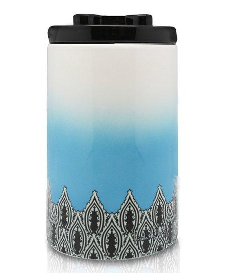 Blue Gypsy Fire Ceramic Treat Jar