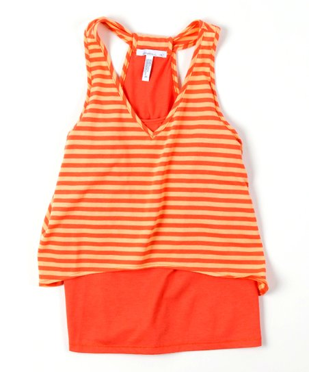 Orange Mel Layered Top