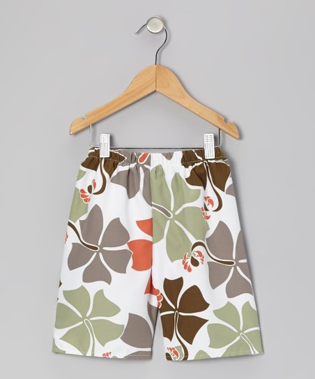 White Java Jungle Shorts - Infant, Toddler & Boys