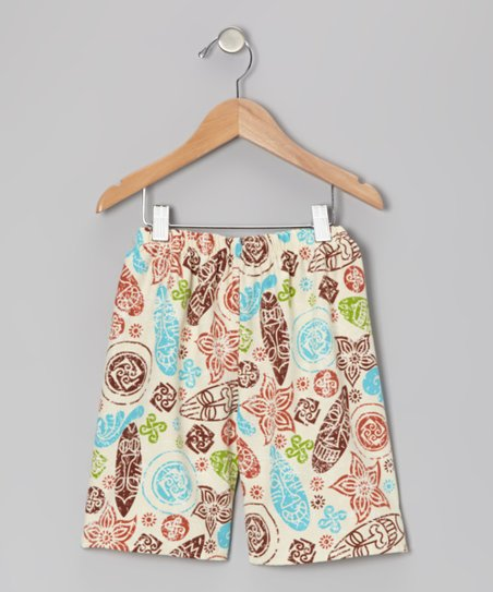 White Kon Tiki Shorts - Infant, Toddler & Boys