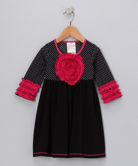 Black Blooming Rose Dress - Toddler & Girls