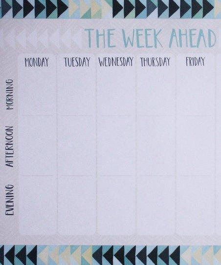 'The Week Ahead' Notepad
