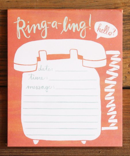'Ring-a-ling' Notepad