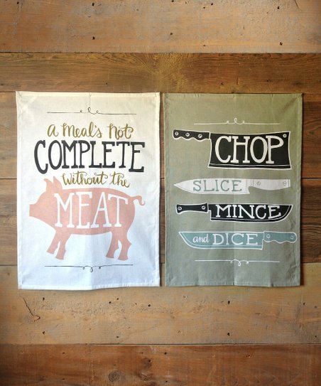 Meat & Knives Tea Towel Set