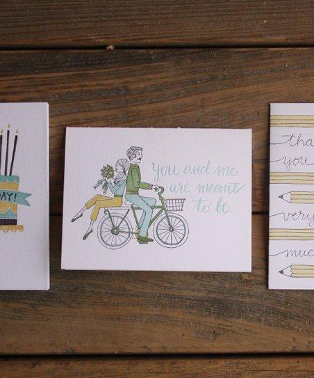 Letterpress Card II – Set of Three