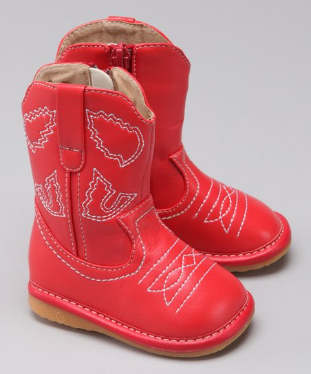 Red Squeaker Cowboy Boot