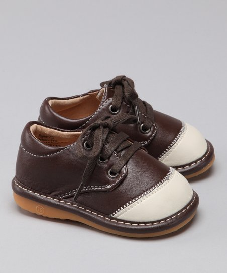 Brown & Cream Squeaker Sneaker